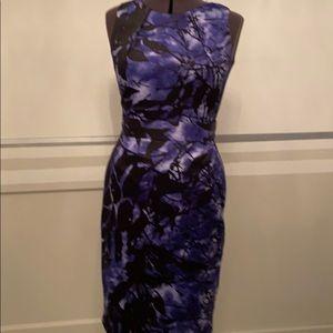 Tahari  Dark violet in a sleeveless sheath size 8